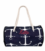 Canvas Day Traveler  Duffle | Monogram | Personalized