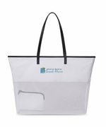 Custom Logo Mesh Beach Bags - 25 pc minimum
