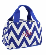 Embroidered Chevron Lunch Tote | Personalized - 3 Colors
