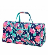 Embroidered Floral Duffle Bag