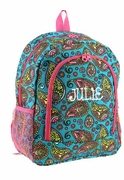 Embroidered Paisley Backpack