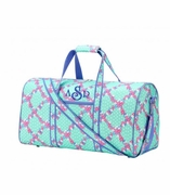Floral Geometric Duffle Bag