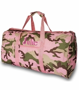 Girls Camo Duffle Bag | Personalized