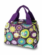 Heart Pattern Purple Lunch Tote