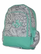 Monogram Bookbag - Paisley