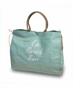Monogram Large Jute Beach Tote