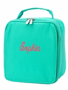 Monogram Lunch Tote Bag - 2 Colors - Pink Mint