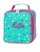 Monogram Polka Dot Lunch Bag