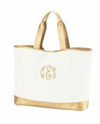 Monogram Shimmer Tote Bag