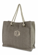 Monogram Tote Bag - Canvas