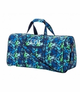 Monogram Weekender Bag  - Gecko Pattern