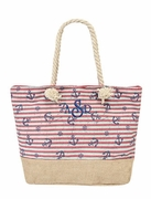 Nautical Anchor Pattern Tote Bag