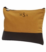 Personalized Canvas Accessory Bag | Gold