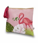 Personalized Flamingo Pattern Makeup Bags