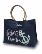Personalized Nautical Themed Tote Bags