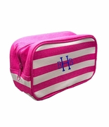 Personalized Stripe Cosmetic Bags