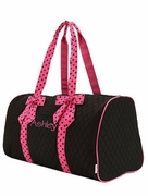 Sport Duffle Bag - Black and Hot Pink