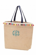 Stylish Jute Tote Bag | Monogrammed - Personalized