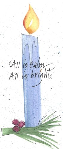 Silent Night Candle Bookmark