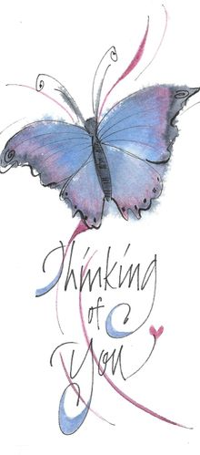 Thinking of You Butterfly Bookmark