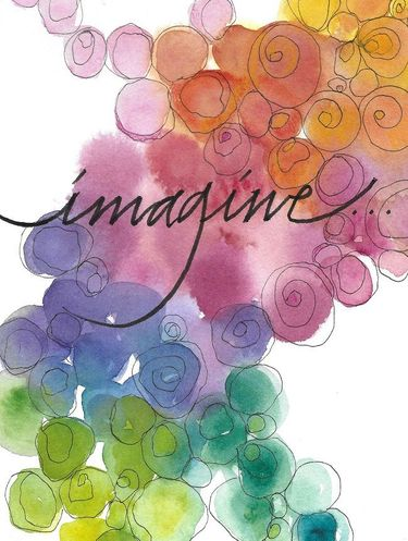 Imagine Greeting Card, set of 6 blank notes
