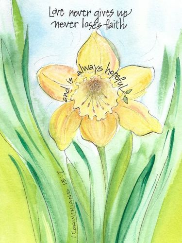 Daffodil Anniversary Greeting Card