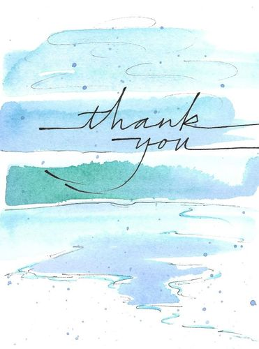 Simple Thank You Greeting Card, message inside