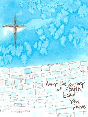 Journey of Faith Greeting Card, message inside