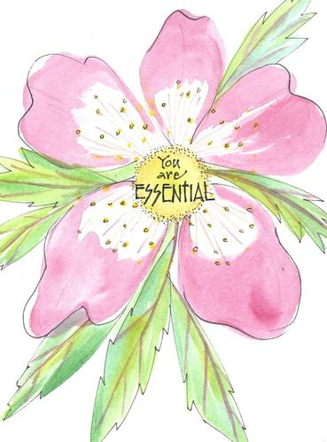 You are Essential Greeting Card, message inside