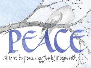 Let There Be Peace Christmas Card Set