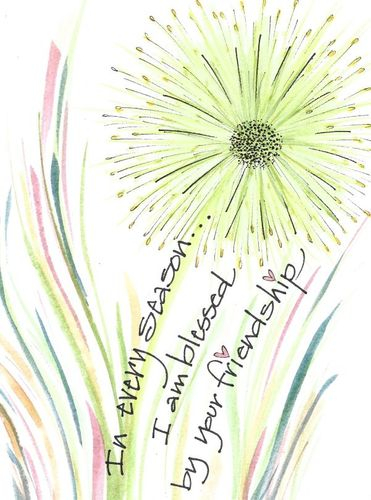 Friendship Greeting Card, message inside