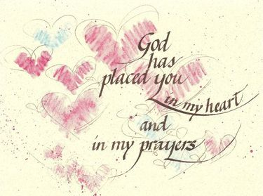 In My Prayers Greeting Card, with message