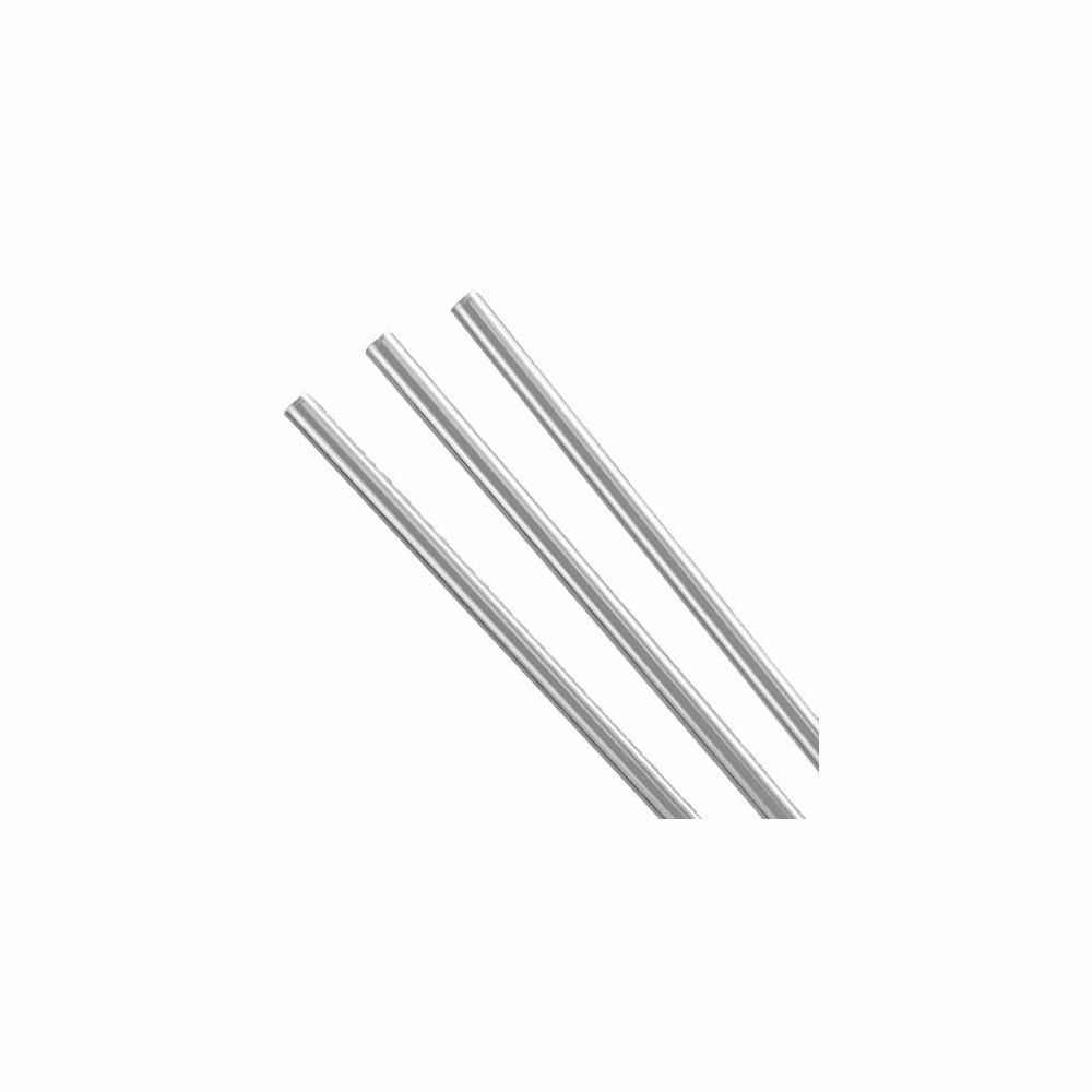 Ableware Rigid Clear Plastic Straws, Reusable Bag of 3 # 745670170