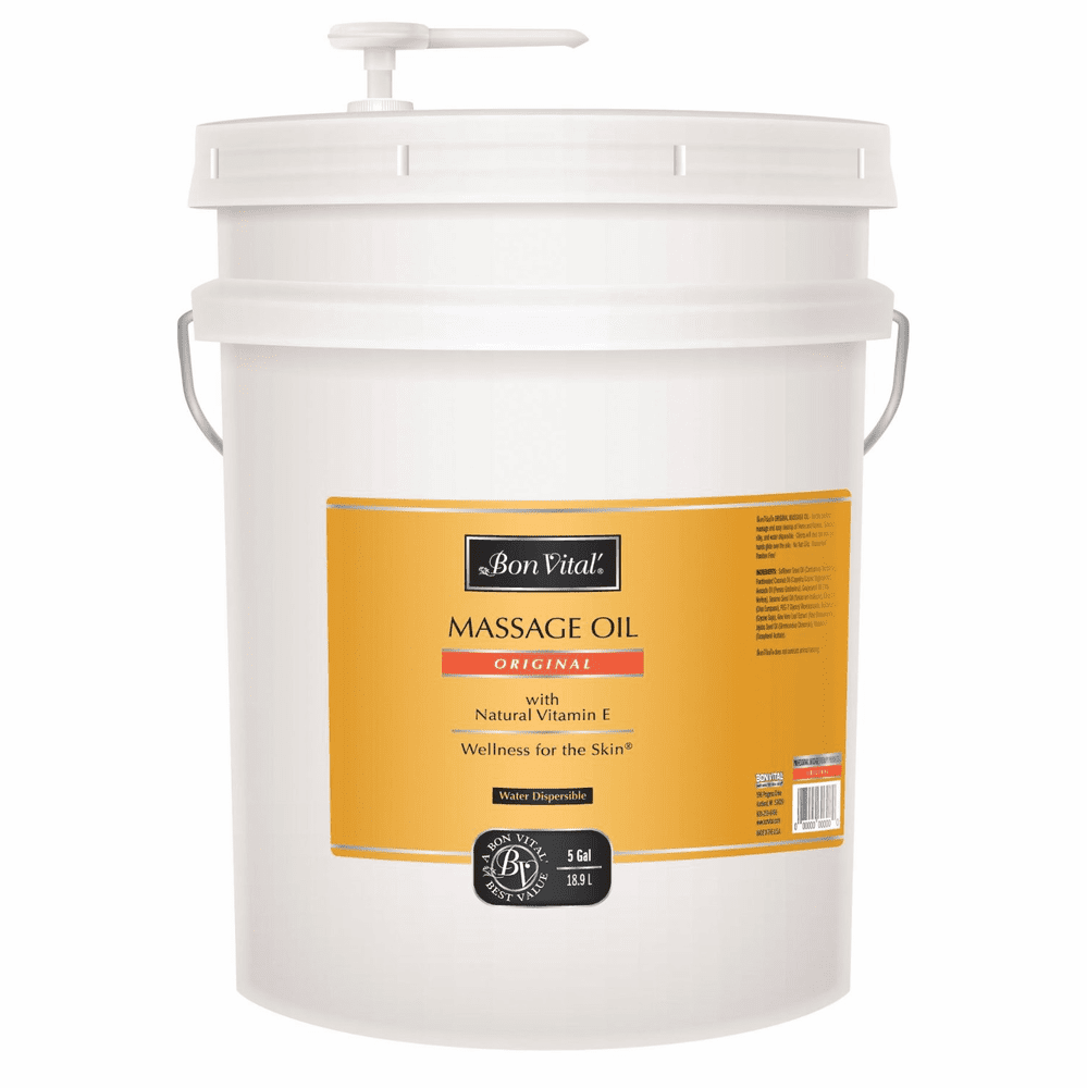 Bon Vital Original Massage Oil, 5 Gallon Pail