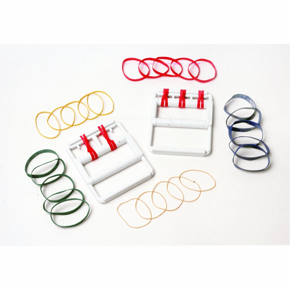 CanDo Latex Free Rubber Band Hand Exerciser with 25 Bands