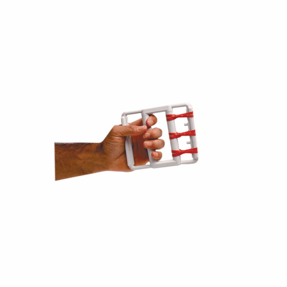 Cando Rubber Band Hand Exerciser w/ 25 Bands Latex Sets
