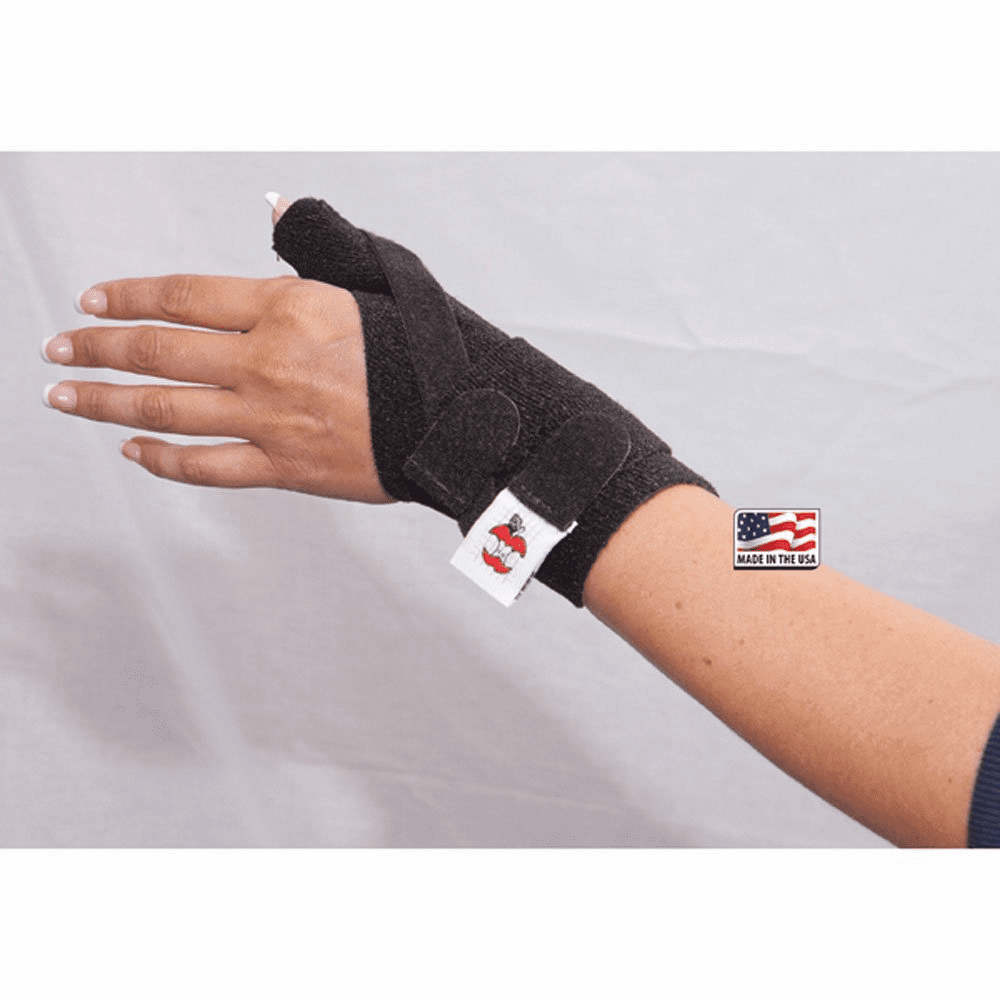 Core Products Bi-Lateral thumb Spica Support - Black