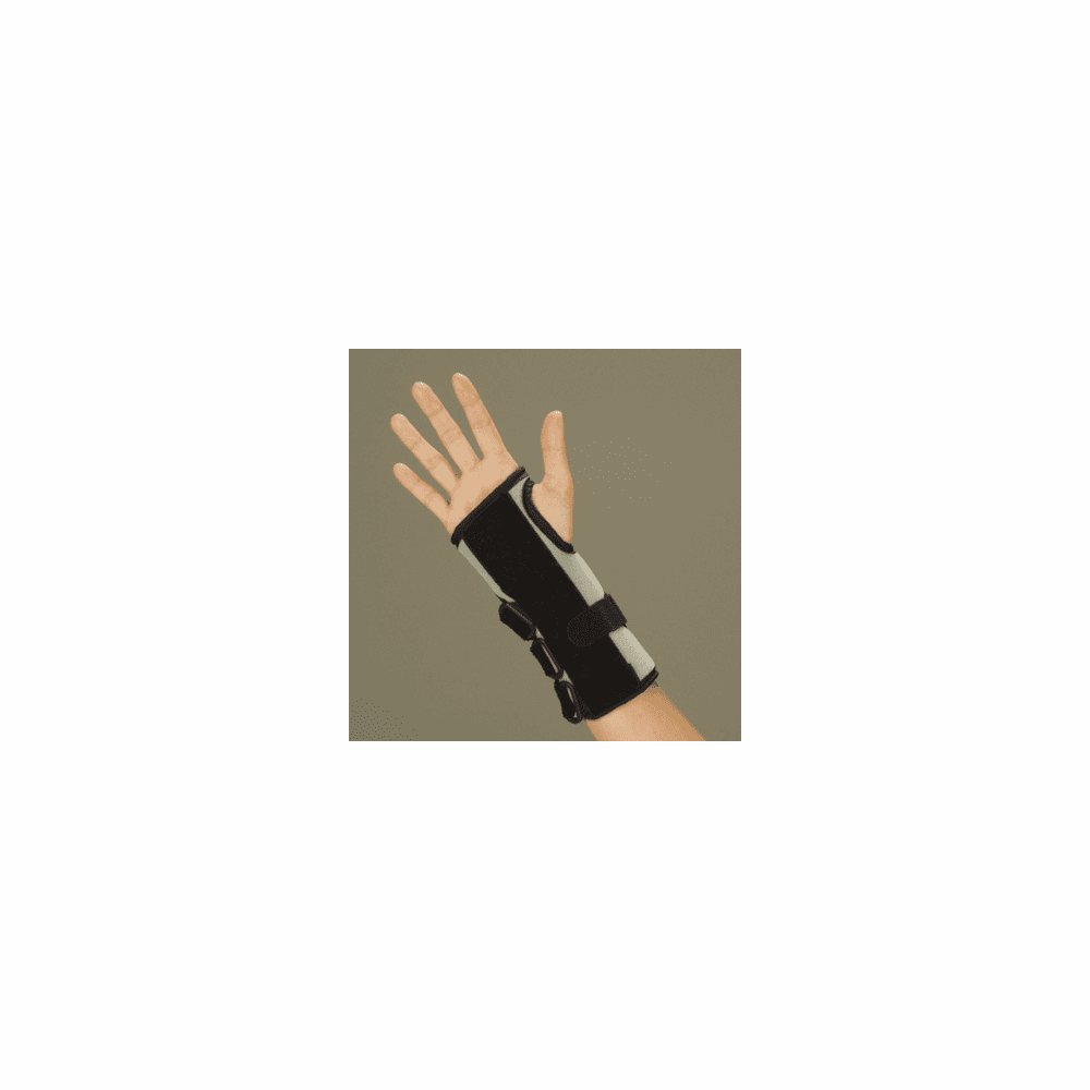 "DeRoyal Black Foam 8"" Wrist Splint, Dynamic Closure, Universal"