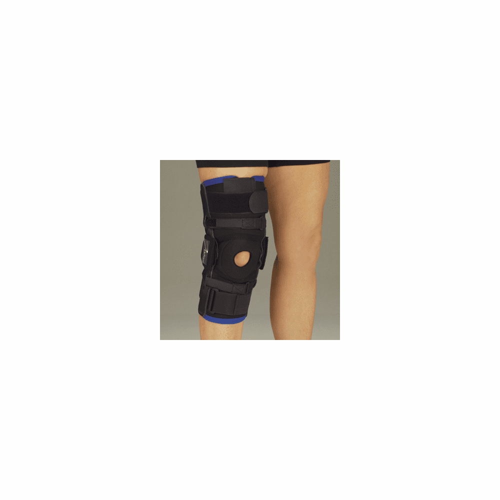 DeRoyal Warrior Tri-tex Knee Brace w/Genucentric Hinge, Short, Pull Up