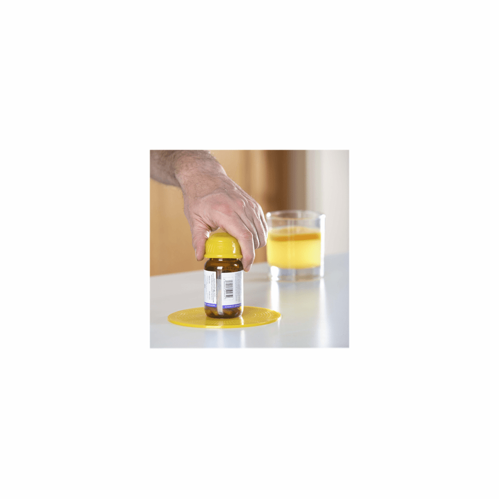 Dycem® non-slip cone-shaped bottle opener, yellow