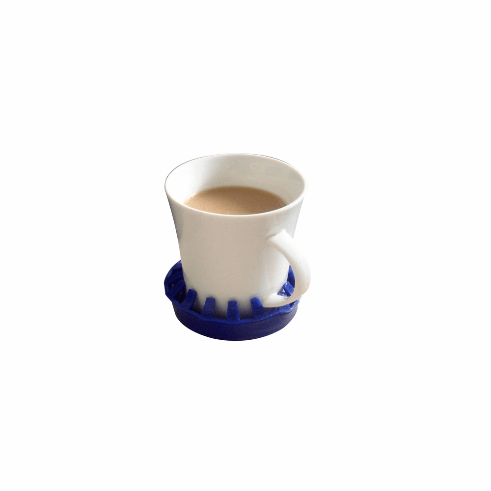 "Dycem non-slip molded cup/can/glass holder (3-1/2"" diameter), blue"