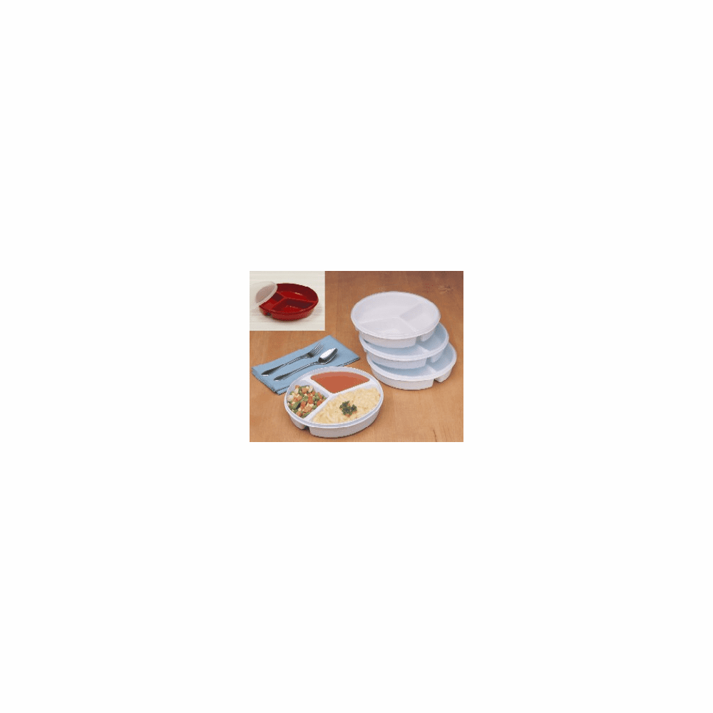 Maddak Ableware Partitioned Scoop Dish with Lid