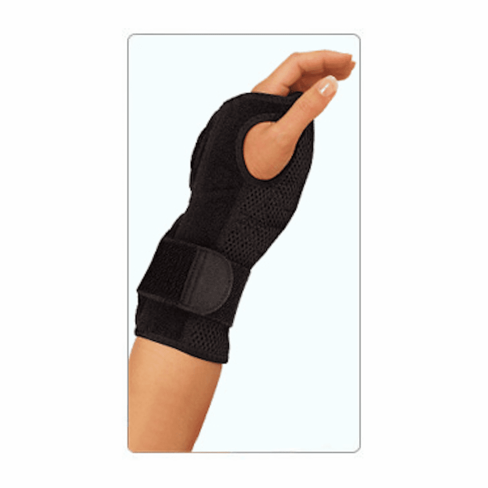 Mueller Night Support Wrist Brace, Black, Size Measure Around Wrist 5.75 - 9""