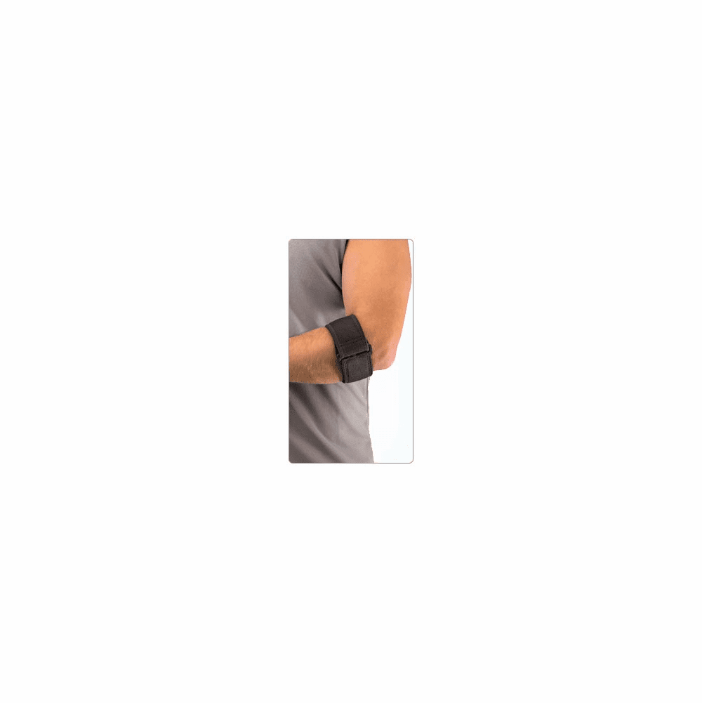 "Mueller Tennis Elbow Adjustable Support Strap with Gel Pad, Black, OSFM fits forearm 8-15"" 70207/6341"