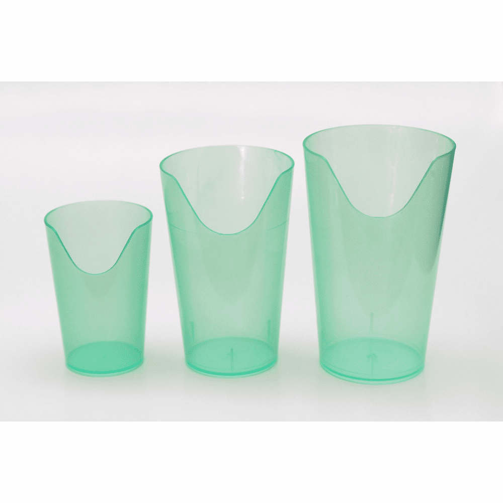 Providence Spillproof Nosey Cups Translucent Plastic - 4 oz, 8 oz & 12 oz