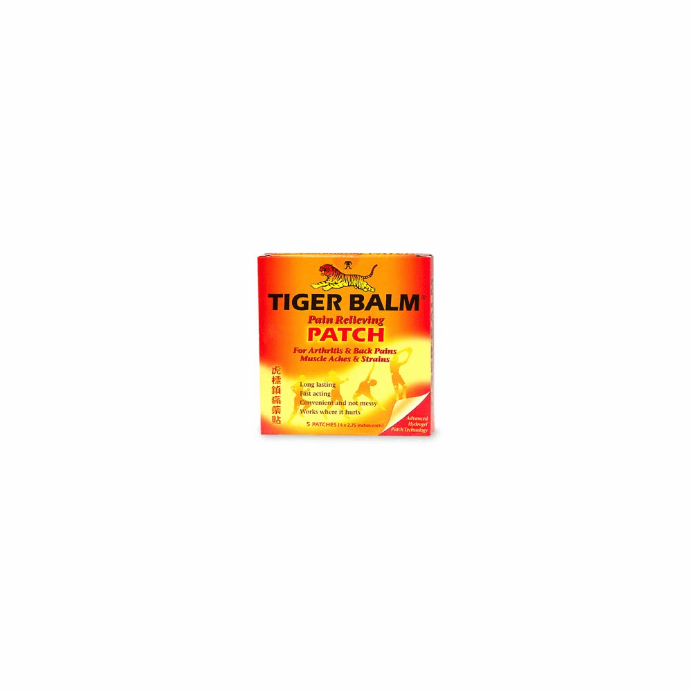 "Tiger Balm Patch 4"" x 2.75"" - Box of 5"