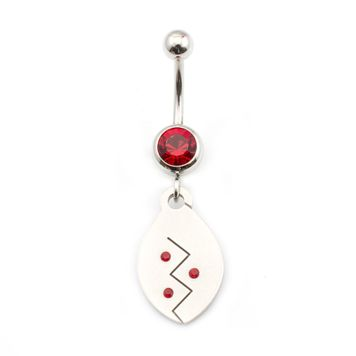14 gauge Belly Button Ring Surgical Steel Dangling Design with Jewels