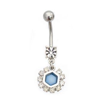 Luxe Modz Pastel Flake Design Dangle Belly Button Ring Surgical Steel 14ga