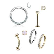 14kt  Hoops, Curved Barbells, Straight Barbells