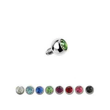 16 Gauge Surgical Steel Press Fit 3mm Gem Ball